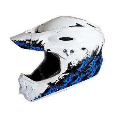 Велошлем KALI Savara Logos, бело-синий