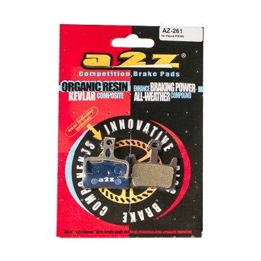 Тормозные колодки A2Z Hayes PRIME, синий, AZ-261Тормоза на велосипед<br>A2Z - небольшой тайваньский завод по производству велосипедных запчастей, специализируется на выпуске высококачественных компонентов, легких втулок, тормозных дисков, титановых эксцентриков и других деталей.<br><br>    Превосходные тормозные свойства колодок уменьшают тормозной путь<br>    Высокоэффективный состав увеличивает мощность при любых погодных условиях<br>    Все тормозные колодки A2Z сделаны из органических соединений и не содержат асбеста<br><br>Виды тормозных колодок A2Z:<br>- Blue (organic) - высокоэффективные органические колодки, на 110%* выше мощность и на 150%* дольше срок службы<br>- Silver (organic) - высокоэффективные органические колодки на алюминиевой подложке, легче колодок Blue на 50%<br>- Gold (Sintered) - высокоэффективные метализированные колодки, служат на 300%* больше<br><br>*по сравнению со стоковыми колодками<br>