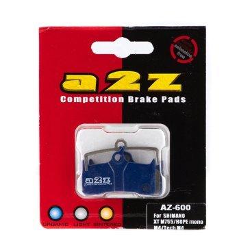 Тормозные колодки A2Z Shimano XT BR-M755, Grimeca system8/Sram/Hope Mono M4/Tech M4, синий, AZ-600