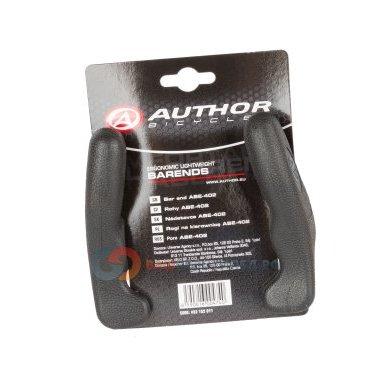 Рога для велосипеда Author алюминий/резина короткие ABE-402 Blk прямые черные 8-33152011Ручки и Рога<br>с резиновым покрытием, черные, прямые, короткие, анатомические, 145г/пара, блистер<br>