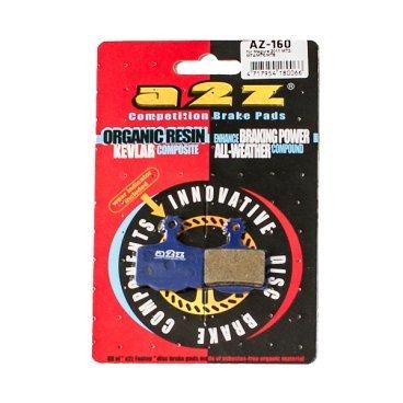 Тормозные колодки A2Z, AZ, Magura 2011 MT2 / MT4 / MT6 / MT8, синий, AZ-160Тормоза на велосипед<br>A2Z - небольшой тайваньский завод по производству велосипедных запчастей, специализируется на выпуске высококачественных компонентов, легких втулок, тормозных дисков, титановых эксцентриков и других деталей.<br><br>    Превосходные тормозные свойства колодок уменьшают тормозной путь<br>    Высокоэффективный состав увеличивает мощность при любых погодных условиях<br>    Все тормозные колодки A2Z сделаны из органических соединений и не содержат асбеста<br><br>Виды тормозных колодок A2Z:<br>- Blue (organic) - высокоэффективные органические колодки, на 110%* выше мощность и на 150%* дольше срок службы<br>- Silver (organic) - высокоэффективные органические колодки на алюминиевой подложке, легче колодок Blue на 50%<br>- Gold (Sintered) - высокоэффективные метализированные колодки, служат на 300%* больше<br><br>*по сравнению со стоковыми колодками<br>