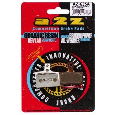 Тормозные колодки A2Z, AZ, Shimano 11 XTR985 /XT M785 /SLX M446, серебристый, AZ-635A