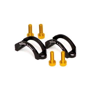 Хомут A2Z, для тормозов Formula ORO, M4 болт, алюминий, черный, LC-H4-1Тормоза на велосипед<br>Облегченные алюминиевые хомуты A2Z в комплекте с болтами.<br><br>    Кованный алюминий<br>    100% CNC<br>    Вес: 5г пара !<br>
