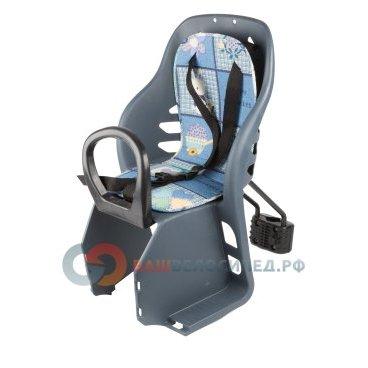 Детское велокресло, переднее, на подседельную трубу до 5 лет/15 кг 280*540*250 мм, синее, 6-639880
