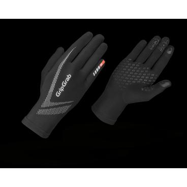 Велоперчатки зимние GripGrab Running Ultralight, воздухопроницаемость, черныйВелоперчатки<br>GripGrab Running Ultra Light легкие беговые перчатки для интенсивных тренировок, соревнований или для тех случаев, когда вам необходимо лишь немного утеплить руки.<br>Перчатки сшиты из ультра легкой ткани которая обеспечивает ощущение легкого утепления.<br><br>    Комфортная температура от 0 °C до +10 °C<br>    Высокая воздухопроницаемость<br>    Светоотражающие логотипы<br>    Работают с сенсорными экранами <br><br><br>Уход <br>Машинная стирка с вещами такого же цвета. Не сушить в стиральной машине. Не использовать отбеливатель. Не применяйте химчистку. Не отжимать. Не гладить.<br>