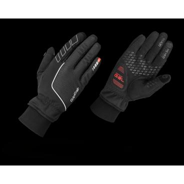 Велоперчатки зимние GripGrab Windster Gloves, ветро- влагозащита, резиновые накладки, черный