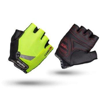 Велоперчатки короткие GripGrab ProGel Hi-Vis, синтетисческая кожа, гелевые накладки, желтыйВелоперчатки<br>Велоперчатки от молодого датского бренда GripGrab. Простая и надежная модель велоперчаток для катания в теплое время года: дышащий материал верха, усиленная синтетическая кожа, гелевые накладки на внутренней стороне и флюоресцентная желтая окраска для лучшей видимости.<br><br>Размер XS, S, M, L, XL, XXL<br>