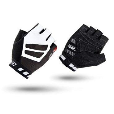 Велоперчатки короткие GripGrab WorldCup, гелевые вставки, черно-белые велоперчатки idol женские черно синий s