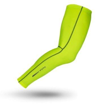 Утеплитель ног GripGrab Leg Warmers Hi-Vis, быстросохнущие, ветрозащита, желтый