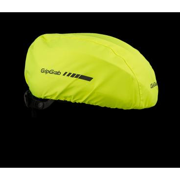 Чехол на шлем GripGrab HelmetCover, Onesize, YellowВелосумки<br>Изготовлен из эластичного водонепроницаемого материала для полной защиты шлема. Защищает от ветра, дождя и снега, чтобы увеличить комфорт во время езды в плохую погоду. Светоотражающие логотипы для увеличения видимости в условиях плохой освещенности.<br><br>100% Полиэстер<br>