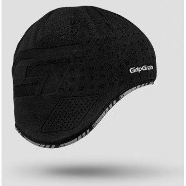 Шапка GripGrab Aviator Cap, ветрозащита, плоский шов, черный шапки mialt шапка