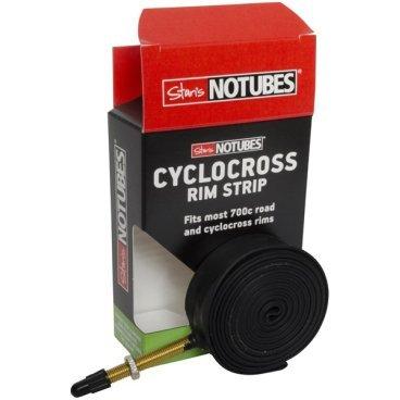 Бескамерная ободная лента с ниппелем Stans NoTubes CYCLOCROSS, RS0031Обода<br>Ободная лента с ниппелем, для установки бескамерной покрышки на двойные обода для циклокросса с внутренней шириной от 17 до 21мм. Если высота обода больше 38мм, используйте удлинитель ниппеля.<br>