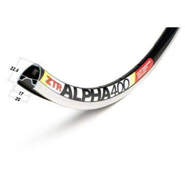 Обод 700c Stans NoTubes ZTR Alpha 400, 32H, черный, боковая стенка серебристая, RWAP90021