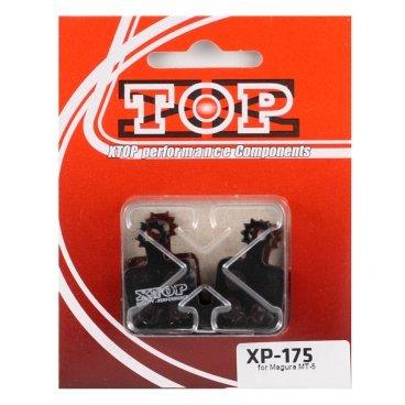 Тормозные колодки X-Top Magura MT-5, Gold, XP-175SТормоза на велосипед<br>Качественные недорогие колодки, обеспечивают уверенное торможение и низкий уровень шума. <br><br><br>Gold (Sintered) - металлизированные колодки, увеличенный ресурс и быстрое охлаждение (средний срок службы 2 сезона)<br>