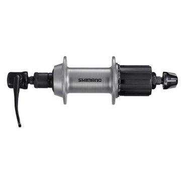Втулка задняя SHIMANO TX500, v-br, 32 отв, 8/9, QR, old:135мм, серебро, EFHTX5008BZAS