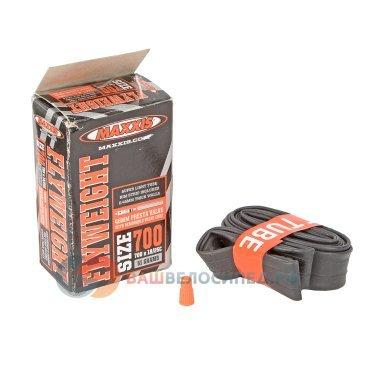Велокамера Maxxis Fly, 700x18/25c, Weight, 48mm, черная, велониппель, SIB6988610