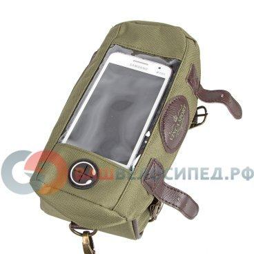 Велосипедная сумка на раму Vintage, материал 600D полиэстер с  PVC покрытием, размеры: 20х10х10Велосумки<br>Сумка на раму Vintage<br>Материал 600D полиэстер с  PVC покрытием<br>В комплекте ремень для сумки через плечо<br>Отделение для телефона с прозрачной пленкой. Благодаря технологии touchscreen можно пользоваться телефоном, не доставая его из чехла. Водозащитный и светоотражающий материал защитит ваш смартфон от повреждений.<br>Характеристики<br>Наличие внешних кармановОтделение для телефона, отверстие для наушников, боковой карман на молнии.<br>Размер кармана для телефона: 14*8см<br>Тип крепления:На раму<br>(арт.FB 11)<br><br>Размеры:<br><br>Длина: 210мм,<br> <br>Ширина:95мм,<br><br>Высота: 100мм<br>