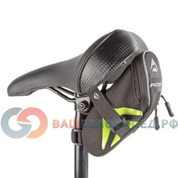 Велосумка подседельная Merida 11.5*5.7*8.3 cm, крепление на ремешке, черно-зеленый, 2276003357