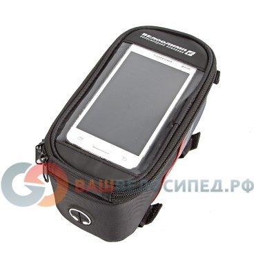Велосумка MINGDA на раму L19,5хH9хW8,5 с отделением для смартфона, окошко 4,8