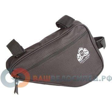 Велосумка под раму, карман для телефона внутри сумки, 240*180*50мм, черный, FB 05-3