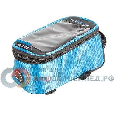 Велосумка на раму, отделение для телефона, отверстие под наушники, 190х90х95мм, FB 07-2 M blue
