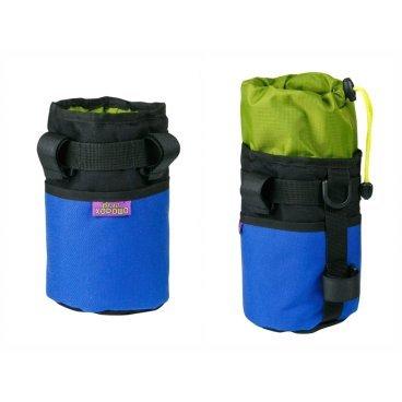 Велосумка ВелоХорошо Всячина Bag, 10см* 18см, синий, BT02Велосумки<br>Сумка для бутылки или термоса. Отлично подойдет для любых вещей. дополнительно вставлен уплотнитель, для сохранения тепла или прохлады напитков. В нее можно сложить: телефон, чипсы, снэки, бутылку пива или банку. <br>По сути всякую всячину. Именно поэтому мы ее так и назвали.<br><br>Материал 1000D, 500d Cordura , oxford 600d PU <br> <br>Яркий нейлон с покрытием, подкладка рип-стоп<br> <br>Покрытые водостойкий нейлон <br> <br>штурок для утяжки бутылки <br> <br>3 меняющихся липучки для крепления<br> <br>Внешний карман <br> <br>Уплотнитель из пены<br> <br>10см* 18см (высота увеличивается до 25см)<br> <br>Объем( 1.-1.55 Литра)<br>