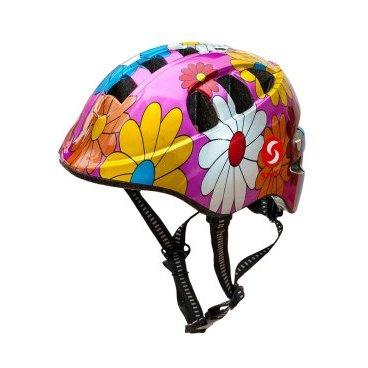 Велошлем детский SwiftBike, Цветы, 48-52см.