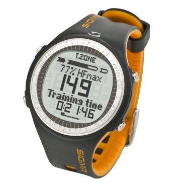 """Пульсометр Sigma Sport PC 25.10, желтый, 28302Велокомпьютеры<br>Пульсометр Sigma Sport PC 25.10, желтый<br><br>Описание:<br><br>Простой в использовании и оборудованный всеми необходимыми функциями.<br>Этот монитор сердечного ритма, с цифровой передачей данных, выполненный в спортивном дизайне, идеально подходит каждому спортсмену.<br><br>Пульсометр имеет две предопределенные тренировочные зоны (сжигание жира 55–70% от ЧСС макс и фитнесс-тренировка 70–80% от ЧСС макс), также можно настроить индивидуальную зону тренировки, задав максимальное и минимальное значения ЧСС для этой зоны. Тренировочный дневник: в памяти пульсометра Sigma PC 25.10 хранятся данные о тренировках – можно просмотреть тренировки за неделю, месяц или любой интервал по своему усмотрению с момента последнего обнуления, чтобы подробно оценить качество Ваших тренировок. Благодаря оригинальной фоновой подсветке, темнота не будет препятствовать Вашим занятиям спортом.<br><br>Функции пульсометра:<br>-Цифровая передача данных<br>-4 функции Сердечного ритма<br>-6 функций часов, включая обратный отсчет и тревогу<br>-2 предустановленные тренировочные зоны (сжигание жира 55–70% от ЧСС макс и фитнесс-тренировка 70–80% от ЧСС макс) 1 индивидуально настраиваемая тренировочная зона<br>-Счетчик калорий<br>-Секундомер<br>-Общие показатели за неделю, месяц и с момента сброса<br>-Память на 1 тренировку (предыдущую)<br>-Интуитивная навигация меню<br>-Батарейный отсек с функцией отключения (для экономии батареи)<br>-Сохранение параметров при замене батареи<br>-Фоновая подсветка дисплея<br>-Водонепроницаемый (до 30 м)<br>-Функция """"Мое Имя""""<br>-5 языков<br><br>Функции часов:<br>-Дата<br>-Время<br>-Будильник<br>-Секундомер<br><br>Диаметр  эерана: 35мм.<br>"""