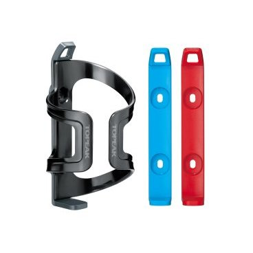 TOPEAK DualSide Cage EX Plastic base Plastic Cage Black w/Gray/Blue/Red mount/holder bracket фляг-ль
