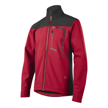 Велокуртка Fox Attack Fire Softshell Jacket Dark Red inov 8 куртка race elite 275 softshell xl black red