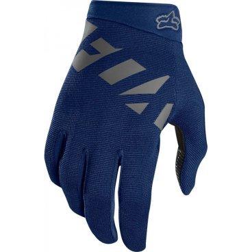 Велоперчатки Fox Ranger Glove NavyВелоперчатки<br>Велоперчатки Fox Ranger Glove черно-желтые <br><br>Описание <br>Лёгкие эластичные перчатки, которые отлично подойдут для тёплого времени года. Верх модели выполнен из дышащей синтетической ткани, а ладонь отделана двойным слоем искусственной кожи Clarino.<br><br>Особенности:<br>Верх выполнен из дышащей ткани с оригинальным узором<br><br>Ладонь из двухслойной искусственной кожи Clarino<br><br>Накладка из микрофибры на большом пальце<br><br>Удобная застёжка на липучке<br>Размеры: S, M, L,  XL<br><br>Ширина: 85 мм.<br>Длина среднего пальцья: 80 мм.<br>