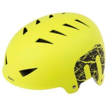 Шлем MIGHTY X-STYLE, ВМХ/FREESTYLE ABS-суперпрочный,  54-58 см, неоново-желтый, 5-731228