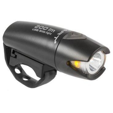 Велосипедная фара SMART, 200лм., Li-Ion аккумултяор с USB-зарядкой, черная, 5-220985