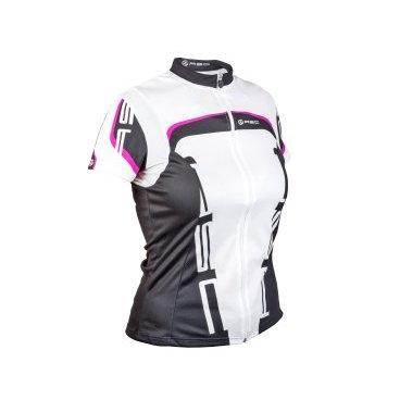 Велофутболка AUTHOR Lady Sport 15A, женская, бело-черно-розовая с молнией, 8-7063010 цены