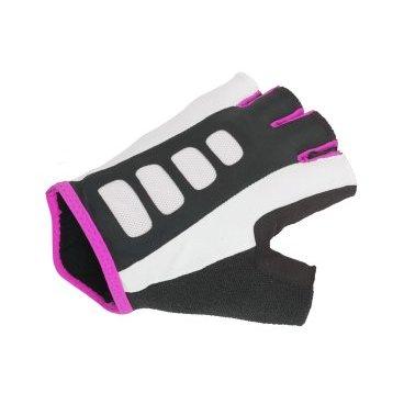 Перчатки женские AUTHOR Lady Sport Gel X6, черно-розовые, гель/лайкра/синтетическая кожа с петелькам
