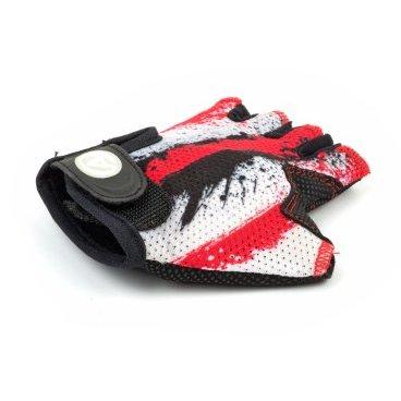 Перчатки подростковые AUTHOR X6, красно-белые, замша/синтетическая кожа