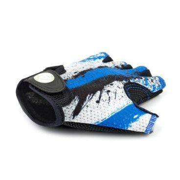 Перчатки подростковые AUTHOR X6, сине-белые, замша/синтетическая кожа