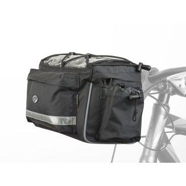 Сумка на руль AUTHOR A-H721 QRX7, 25,4/31,8мм, V=10л, с чехлом от дождя, черно-серая, 8-15002517 сумка 8 15000068 на багажник a n491 боковая v 13л с плечевым ремнем черная author
