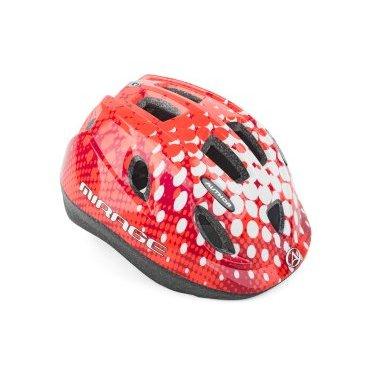 Шлем детский AUTHOR Mirage 168, светодиодный фонарь, 12 отверстий, красный, 48-54см, 8-9089983