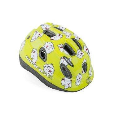 Шлем детский AUTHOR Mirage 163Grn Bear INMOLD, светодиодный фонарь, 12 отверстий, 48-54см, 8-9089981