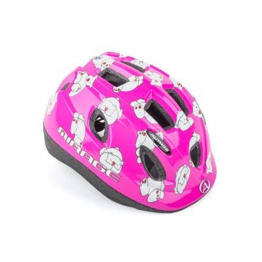 Шлем детский AUTHOR Mirage 161Pnk Bear INMOLD, светодиодный фонарь, розовый, 48-54см, 8-9089980 шлем author mirage детский подростковый 121 red fish inmold 11 отверстий 48 54см 8 9089951