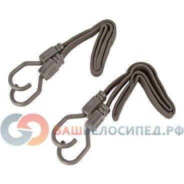 Резинка на багажник 800х19мм плоская, для крепления, с увеличенными крючками, черная, 5-780166