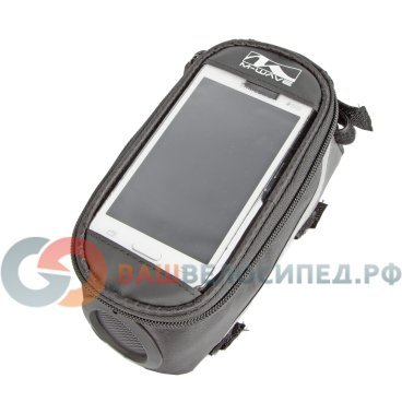 Сумочка/чехол+бокс M-WAVE на раму для смартфона 185х90х95мм, встроенный динамик, черная 5-122377 сумочка чехол вело m wave для смартфона бокс 170х80х80мм с влагозащитой черно желтая 5 122556