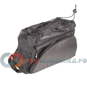 Велосумка 8-15000004 на багажник A-N441 с плечевым ремнем V=15л черная AUTHOR сумка 8 15000068 на багажник a n491 боковая v 13л с плечевым ремнем черная author