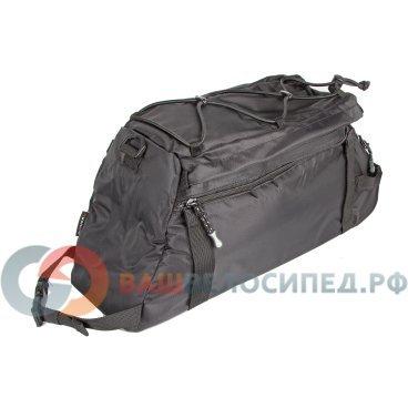 Велосумка 8-15000057 на багажник A-N472 с плечевым ремнем V=8+3л черная AUTHOR аксессуары для багажников