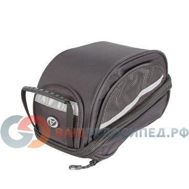 Велосумка AUTHOR A-N LitePack6, V=6 с чехлом черная+багажник на подседельный штырь 8-15000085