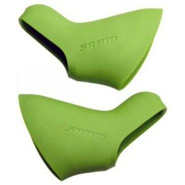Накладка манетки Am Hoods for Doubletap Levers, зеленаяМанетки и Шифтеры<br>Накладка манетки Am Hoods for Doubletap Levers, зеленая<br>