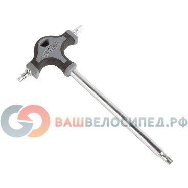 Т-ключ SUPER B (Premium) ТВ-TH10, Тorx 30/Тorx 30 + шестигранник 5 мм, торговая упаковкаВелоинструменты<br>SUPER B (Premium) ТВ-TH10 Т-ключ: Тorx 30/Тorx 30 + шестигранник 5 мм, торг.упаковка<br>