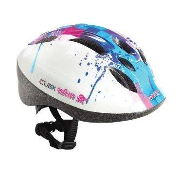 Велошлем детский 'NFUN CUBIX, 8 отверстий, бело-голубой, 01-100013