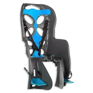 Детское велокресло на багажник 'NFUN CURIOSO, серое с голубой вставкой, до 7лет/22кг, 01-100050